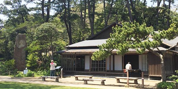 岡倉天心住居と石碑「亜細亜はひとつ」