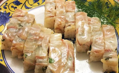 鯛の押し寿司