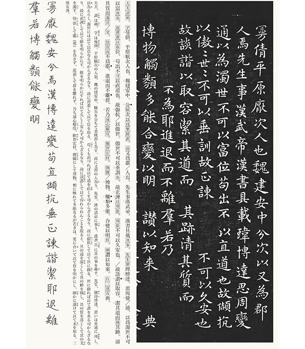 王羲之 東方朔画賛