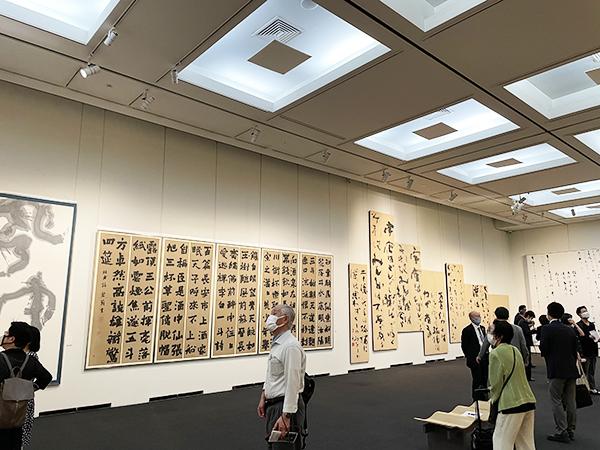 上野の森美術館・六人展会場01